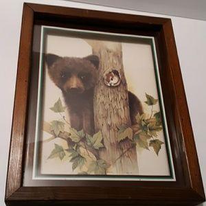 F. Massa Artwork print Bearcub  with squirrel
